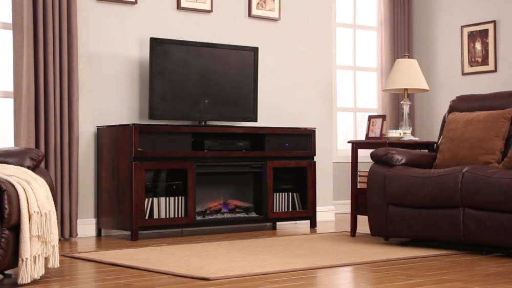 Tv Stand With Fireplace And Speakers