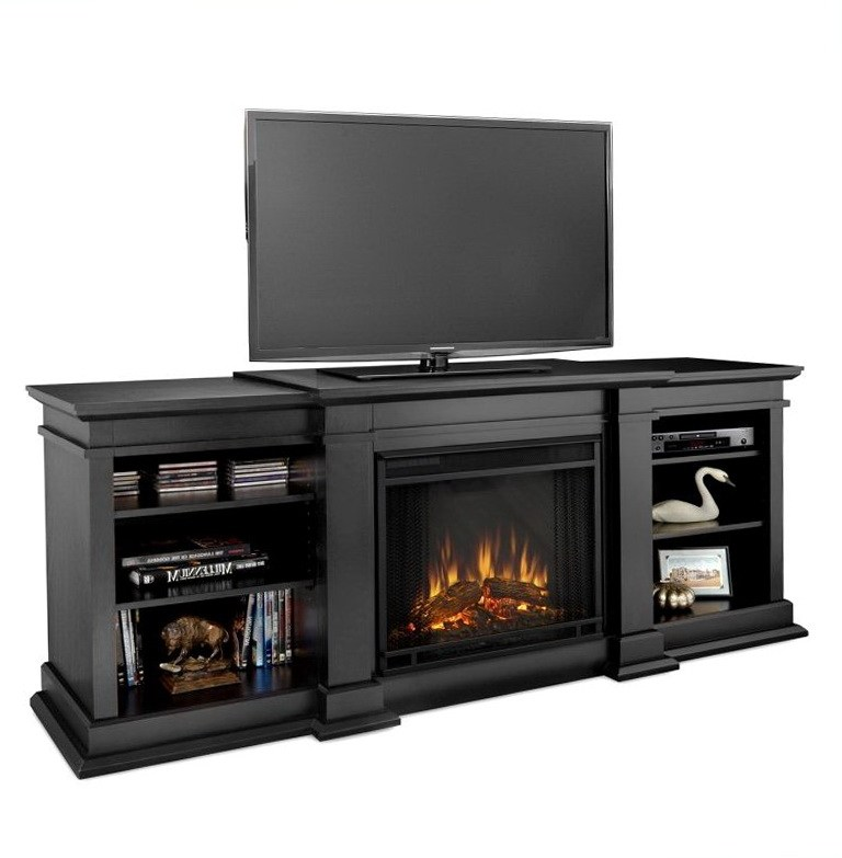 Tv Stand With Fireplace Black