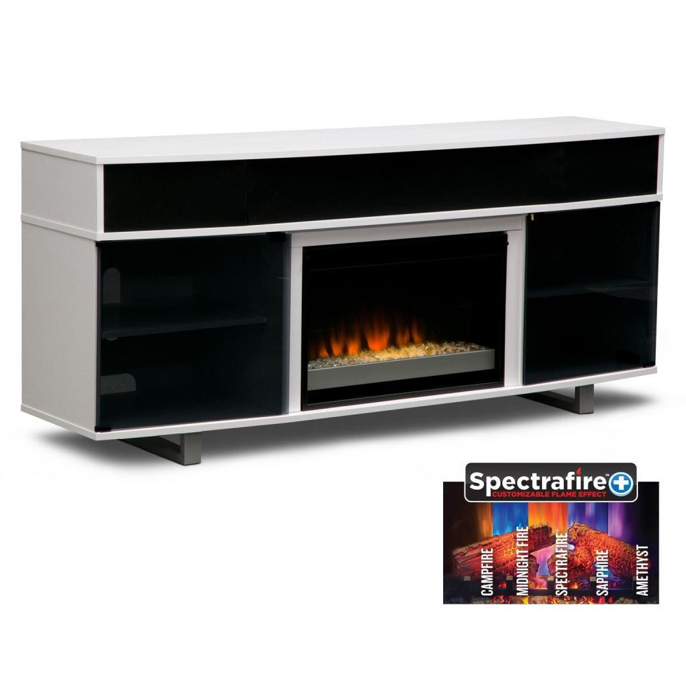 Tv Stand With Fireplace White