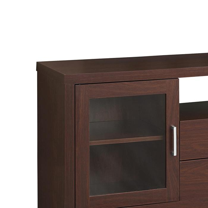 Tv Stand With Glass Doors And Drawers