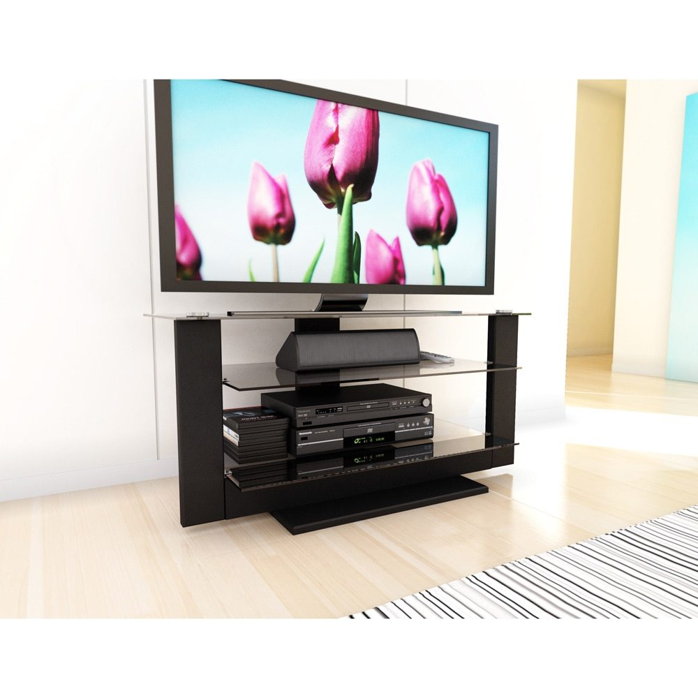 Tv Stand With Glass Shelves Walmart