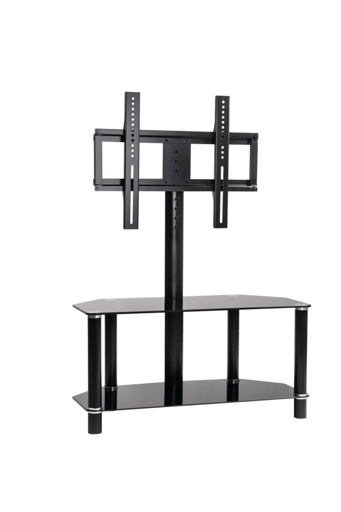 Tv Stand With Mount Glass Shelves