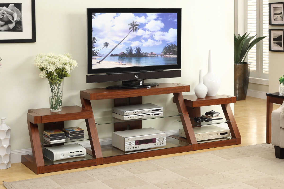 Tv Stand With Side Shelves