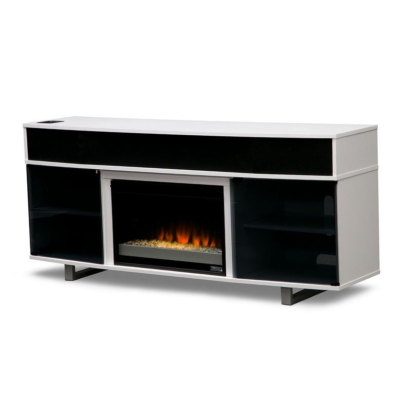 Tv Stand With Soundbar And Fireplace
