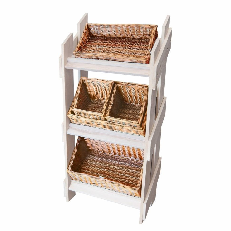 Tv Stand With Wicker Baskets