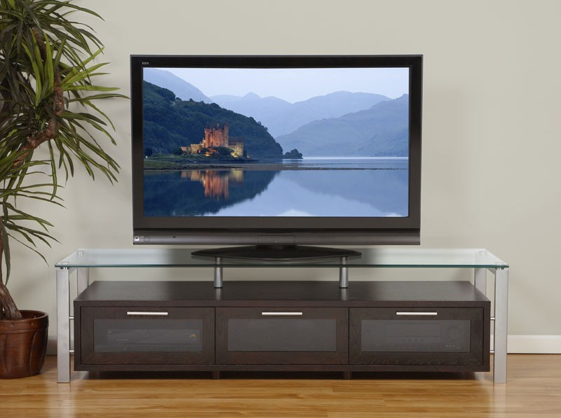 Tv Stand Wood Glass