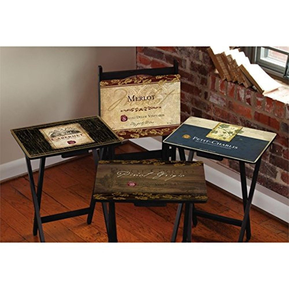 Tv Trays With Stand Set