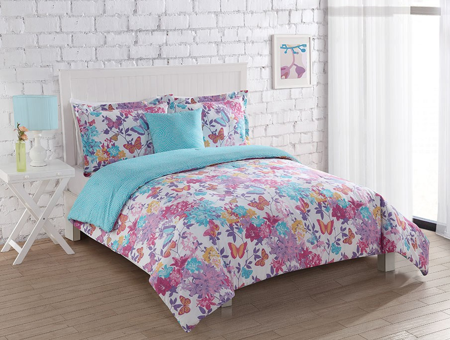 Twin Butterfly Comforter Set