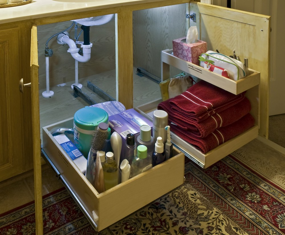 Under Bathroom Cabinet Storage Ideas