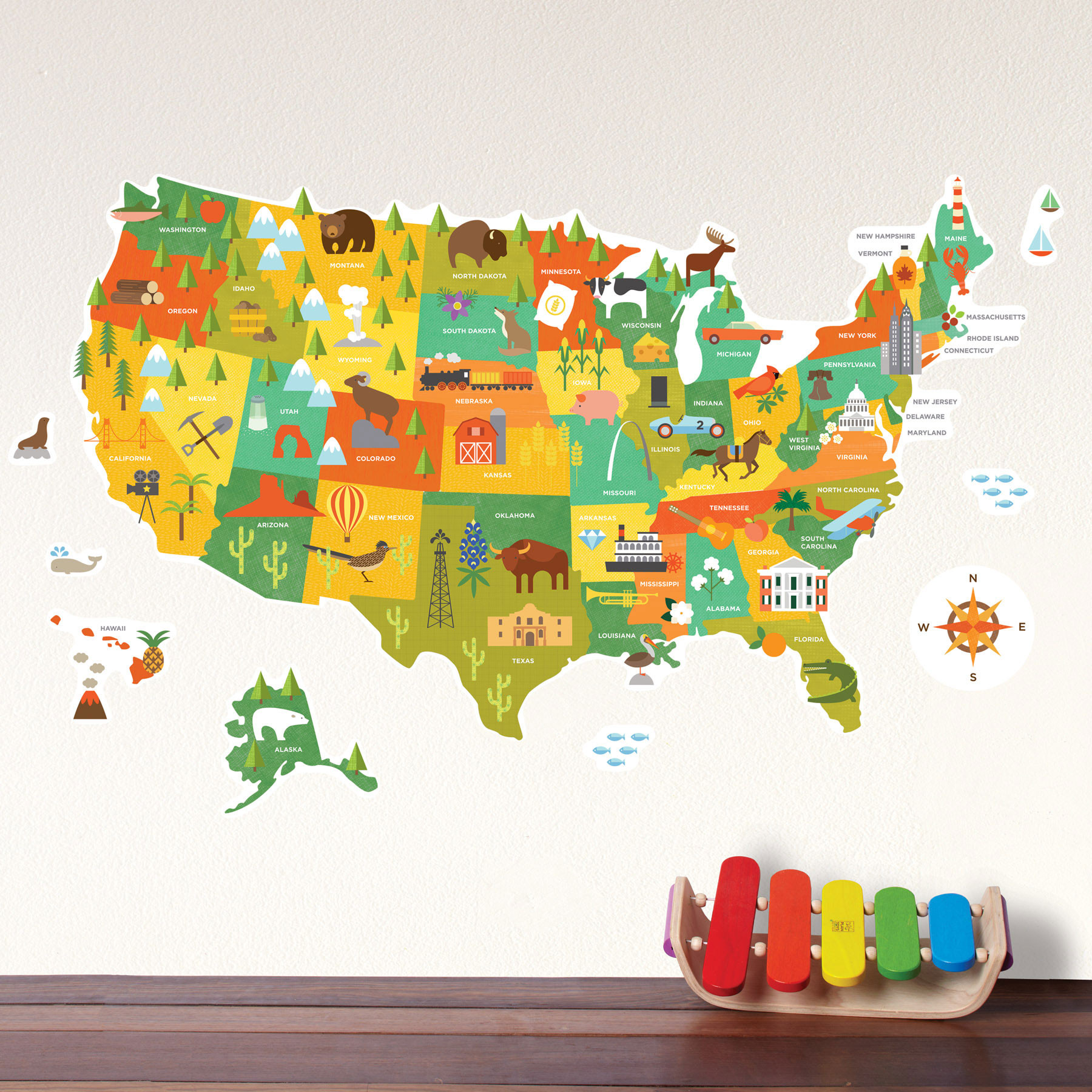 United States Wall Decal