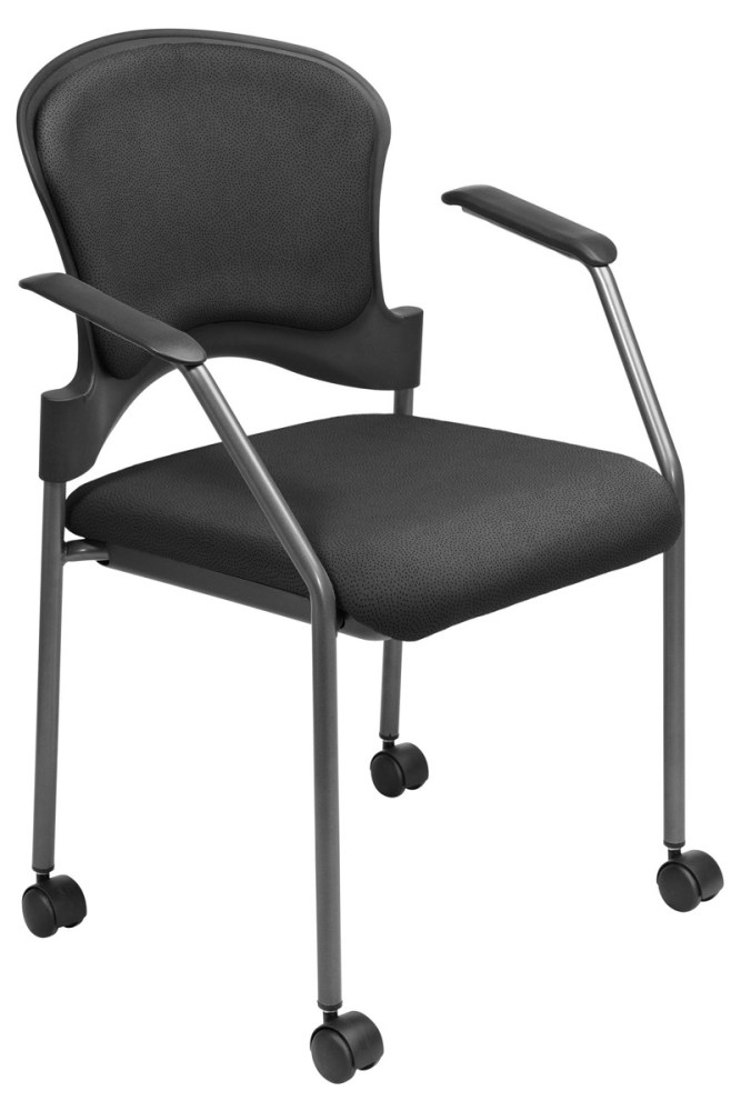 Upholstered Office Chair With Wheels