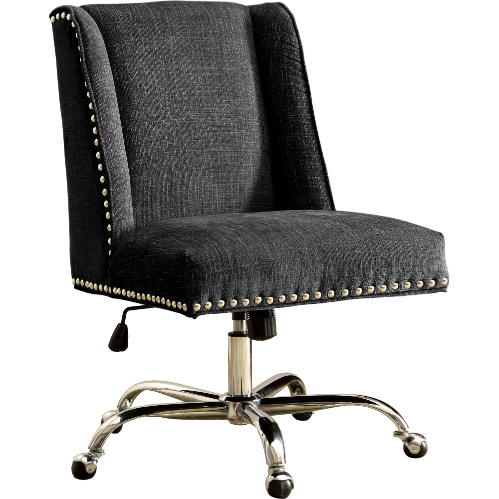 Upholstered Swivel Office Chair