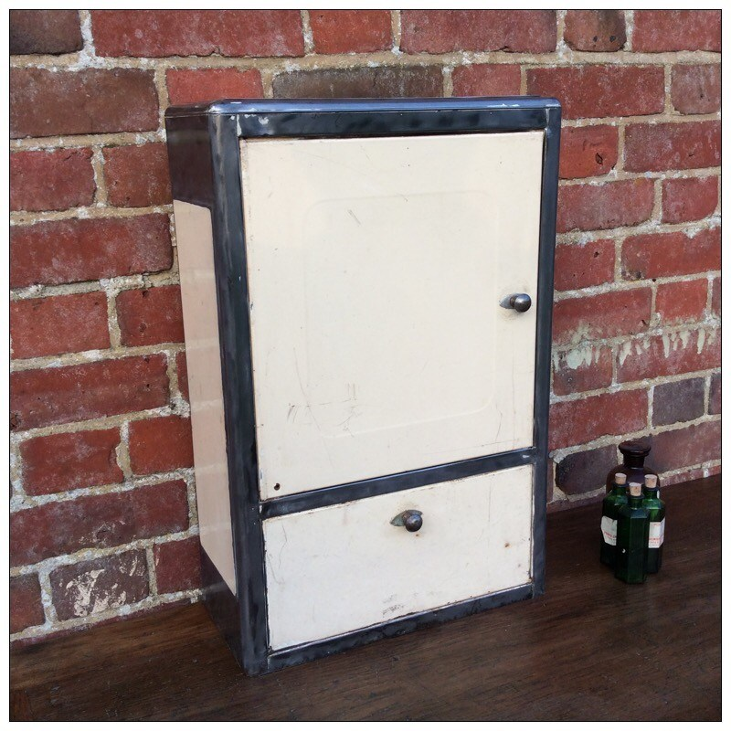 Vintage Metal Bathroom Cabinet