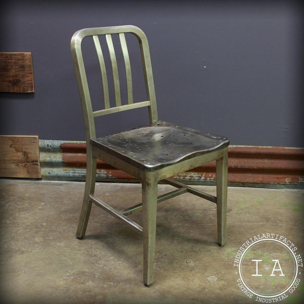 Vintage Metal Office Chairs