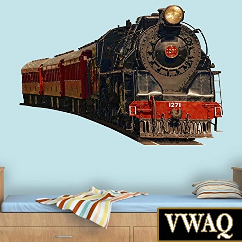 Vintage Train Wall Decals