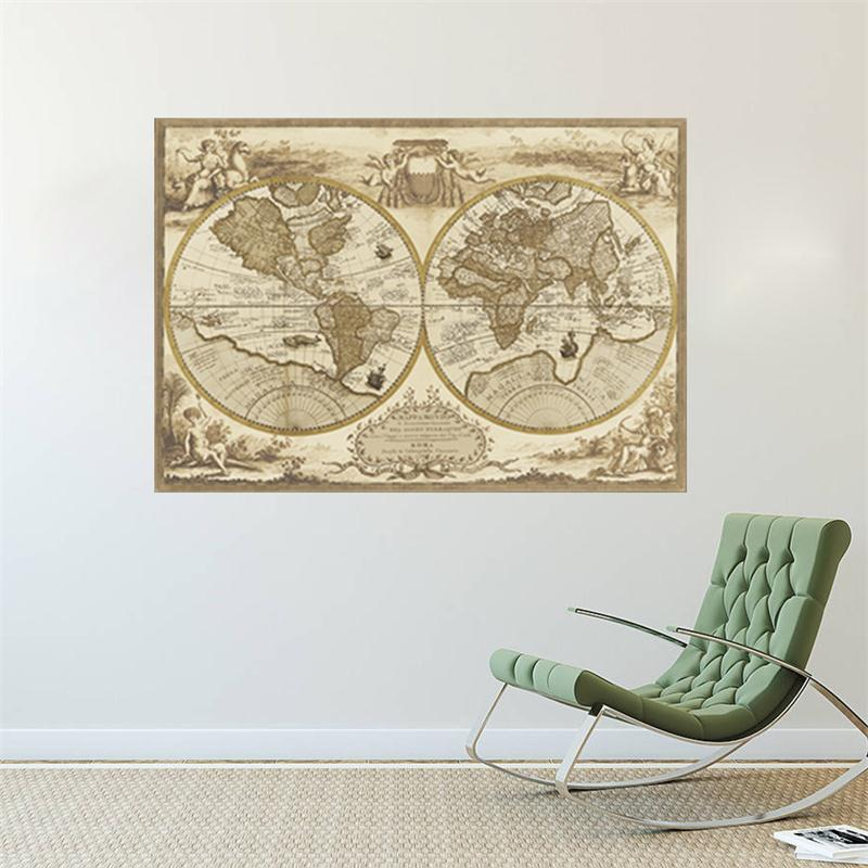 Vintage World Map Wall Decal