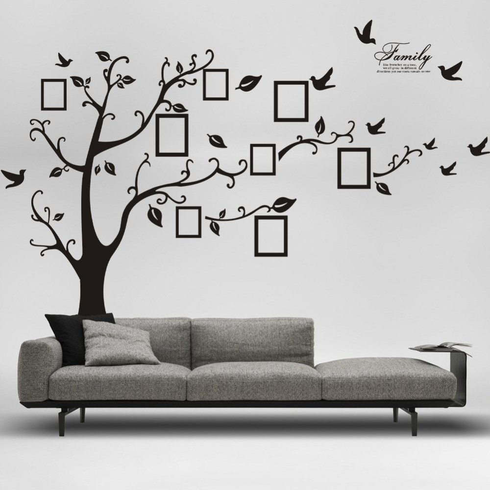 Vinyl Tree Wall Decal With Picture Frames