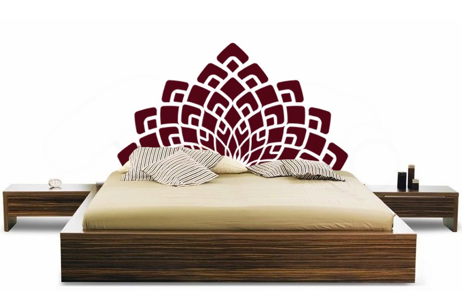 Vinyl Wall Decal Headboard