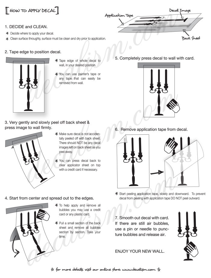 Vinyl Wall Decal Instructions