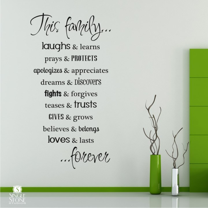Vinyl Wall Decals Family