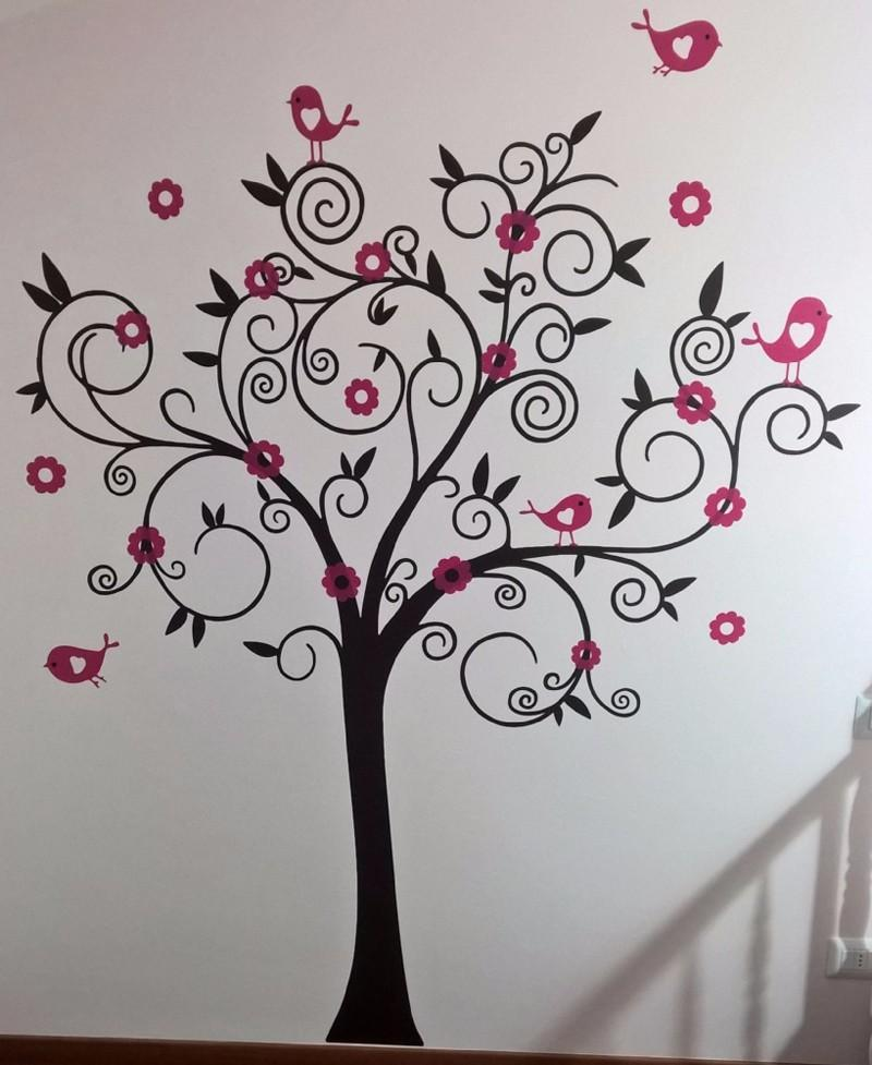 Vinyl Wall Decals Tree With Birds