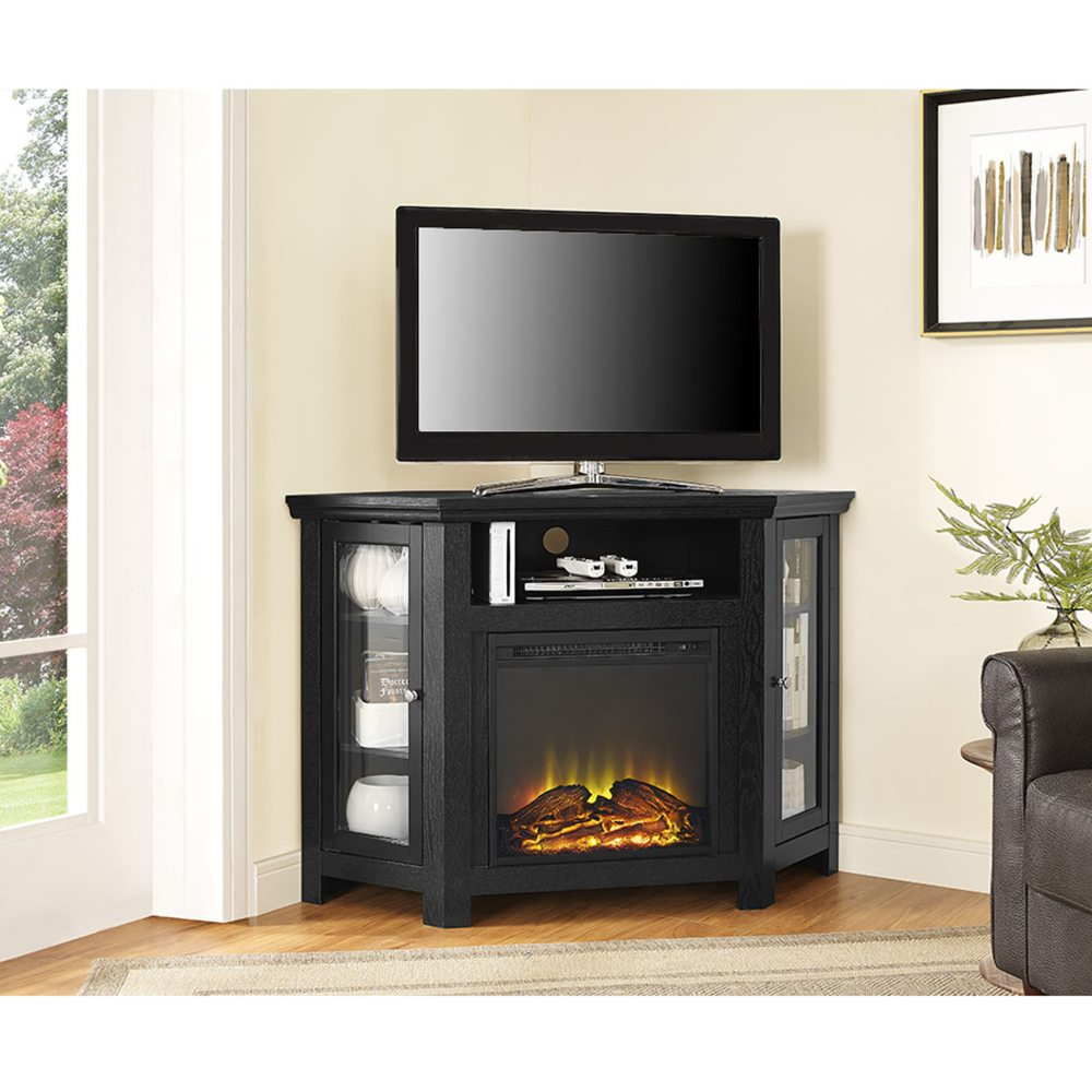 Walker Edison Corner Tv Stand Fireplace