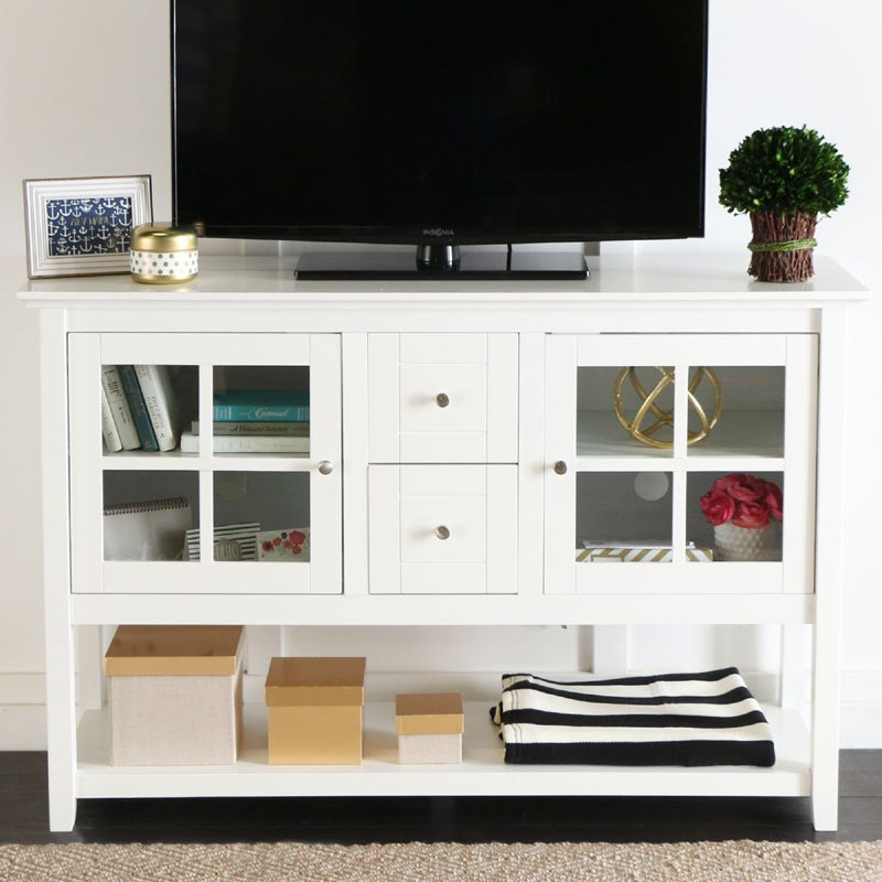 Walker Edison Highboy Tv Stand White
