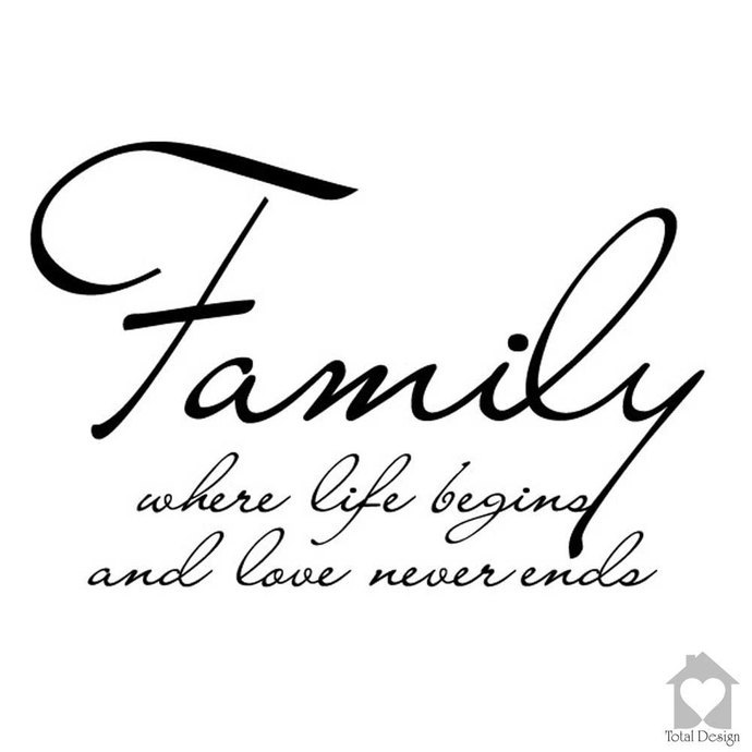 Wall Decal Family Where Life Begins And Love Never Ends