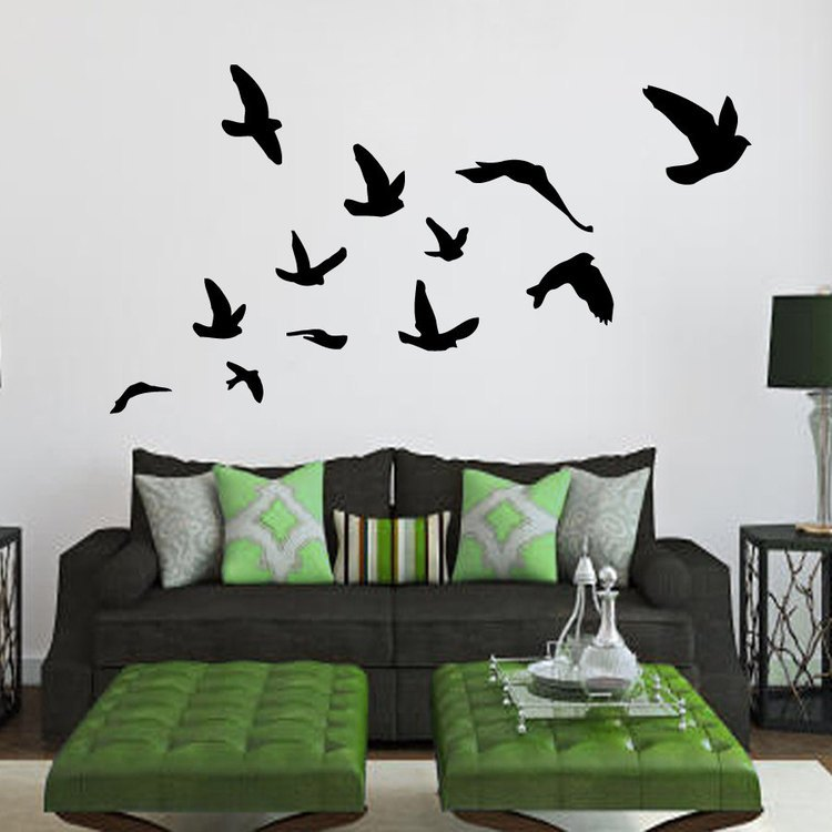 Wall Decals Birds Flying