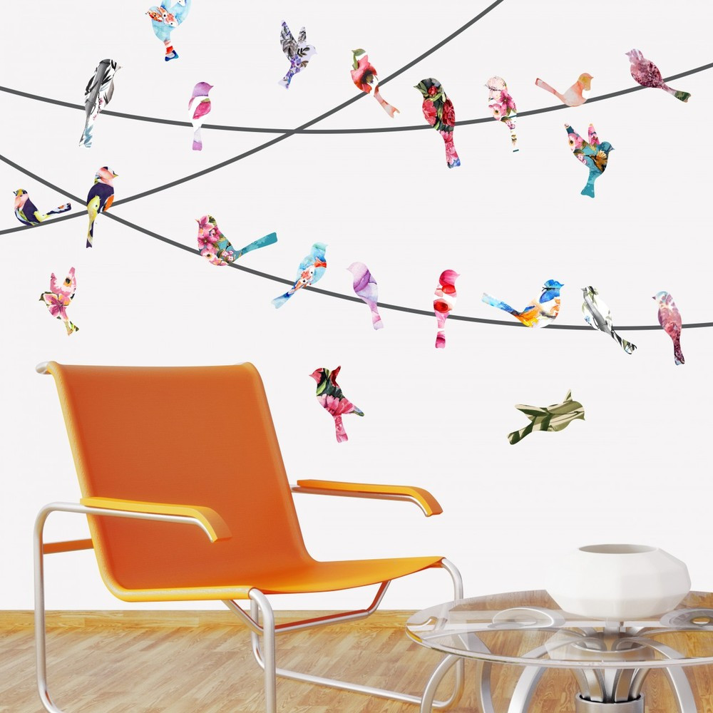 Wall Decals Birds On A Wire
