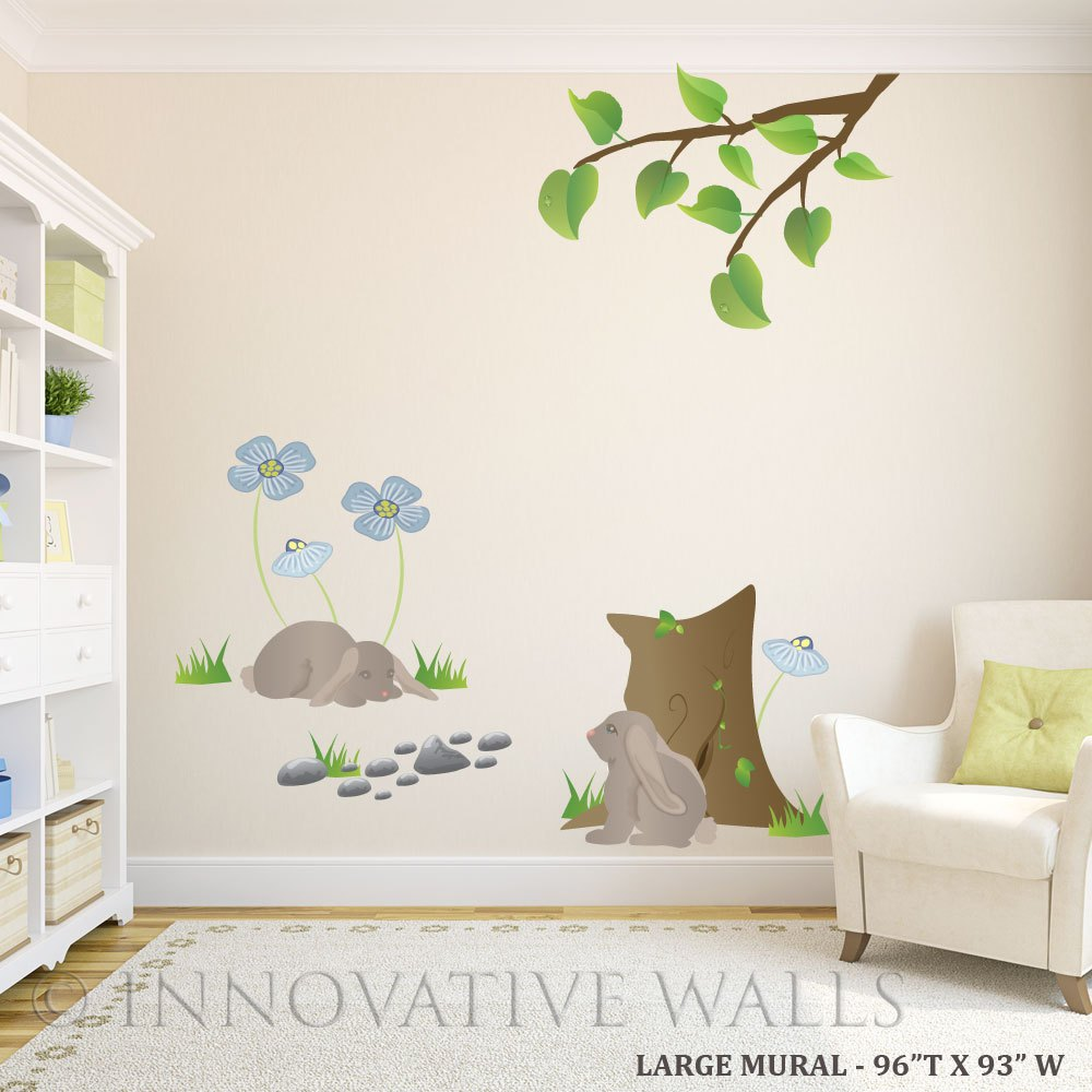 Wall Decals Blue Flowers