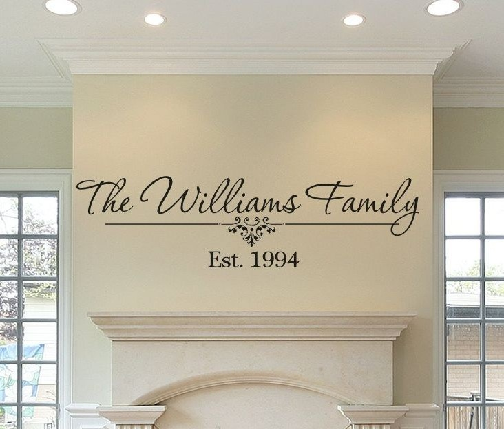 Wall Decals Family Name Established
