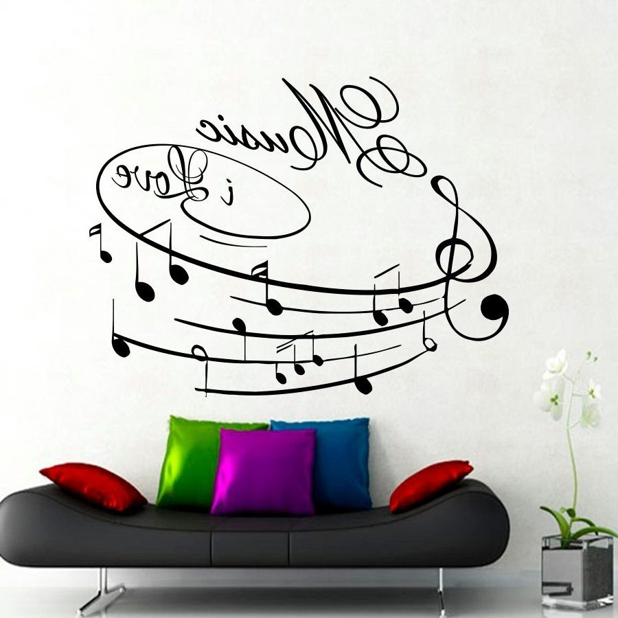 Wall Decals Music Theme