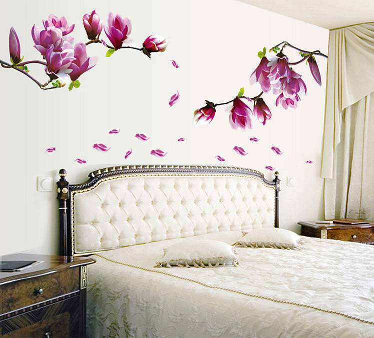 Wall Decals Purple Flowers