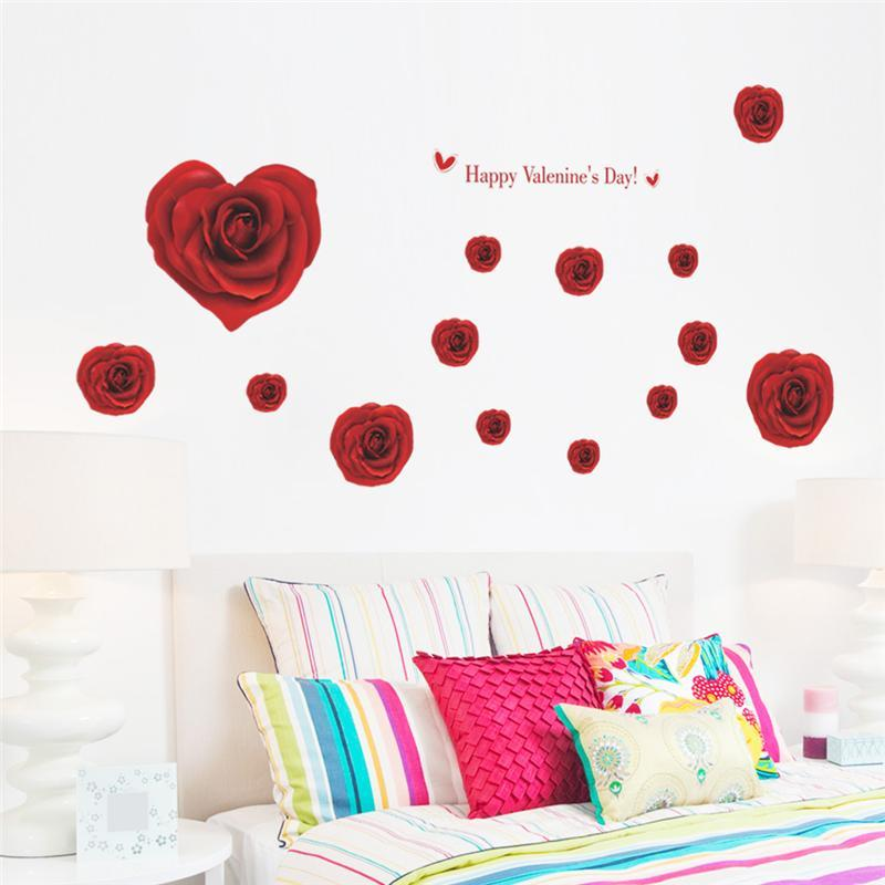 Wall Decals Red Flowers