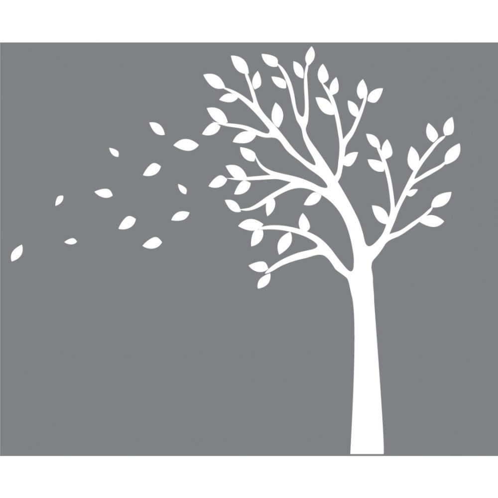 Wall Decals Tree White