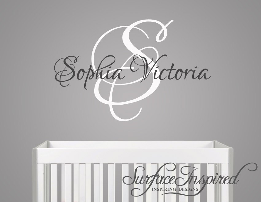 Wall Initial Decals For Nursery