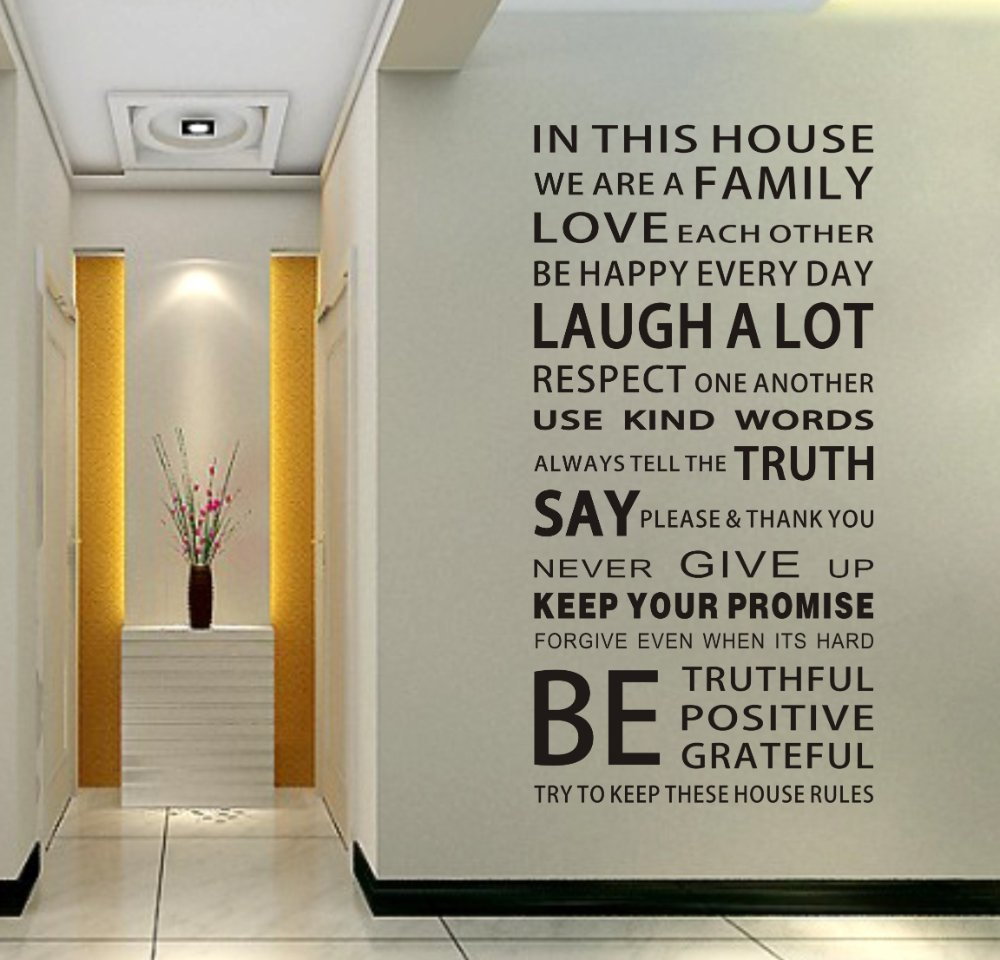Wall Lettering Decals Quotes