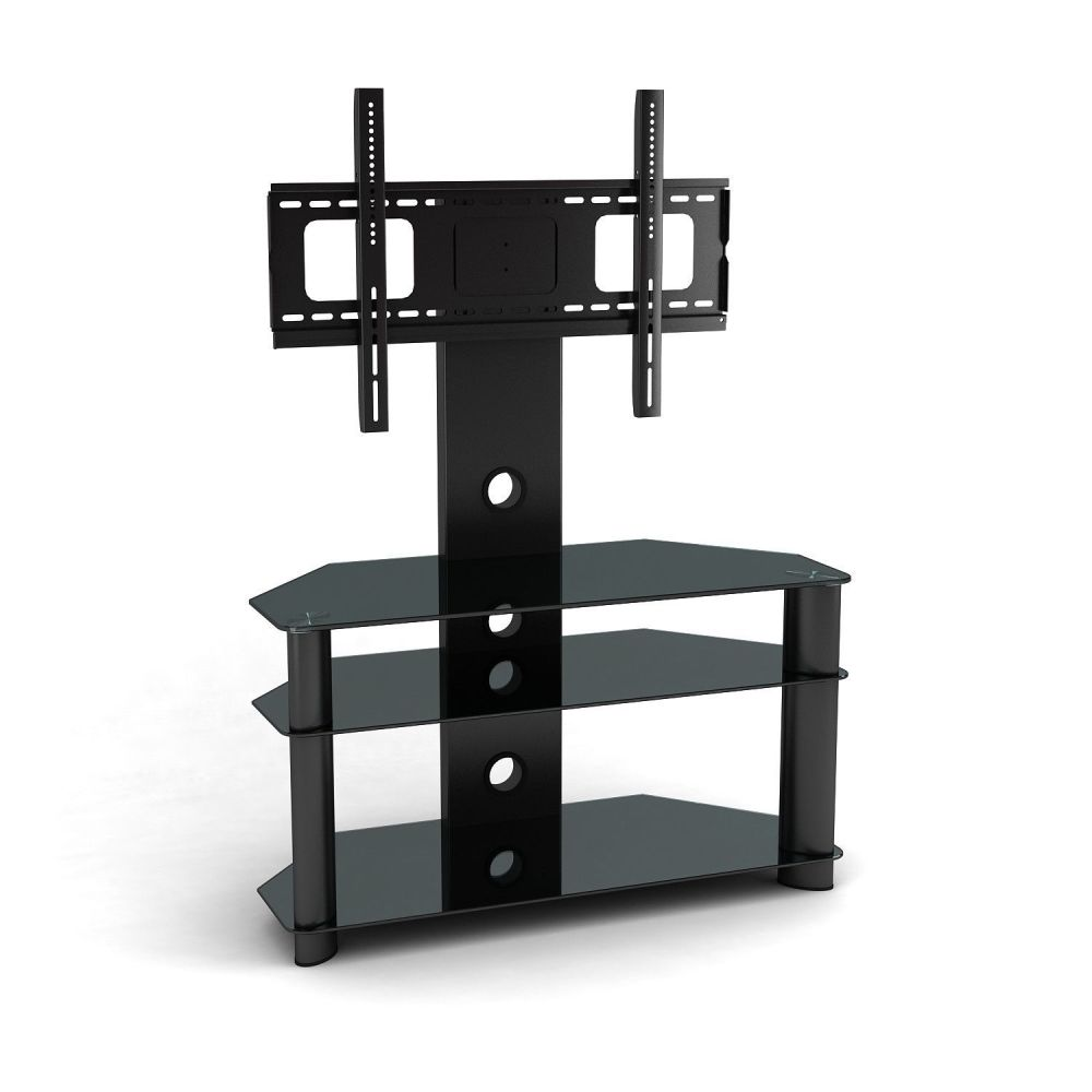 Wall Mount Tv Stand With Glass Shelves