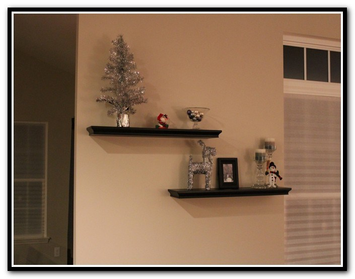 Wall Mounted Tv With Floating Shelves