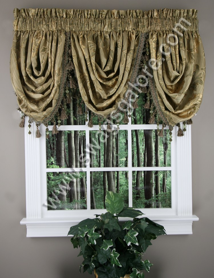 Waterfall Valance Curtains