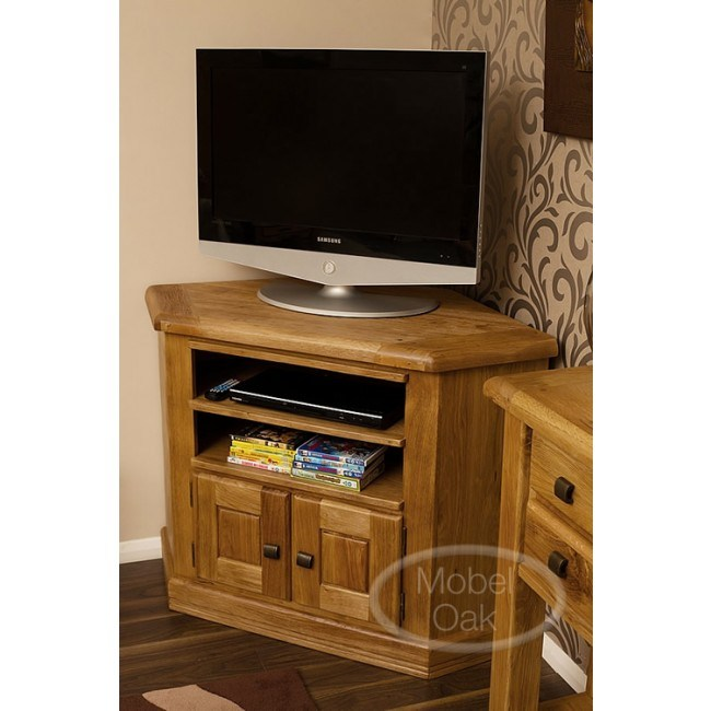 Weathered Corner Tv Stand