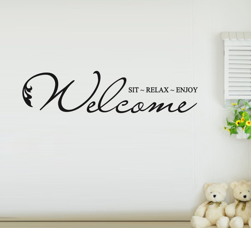 Welcome Wall Decals Quotes