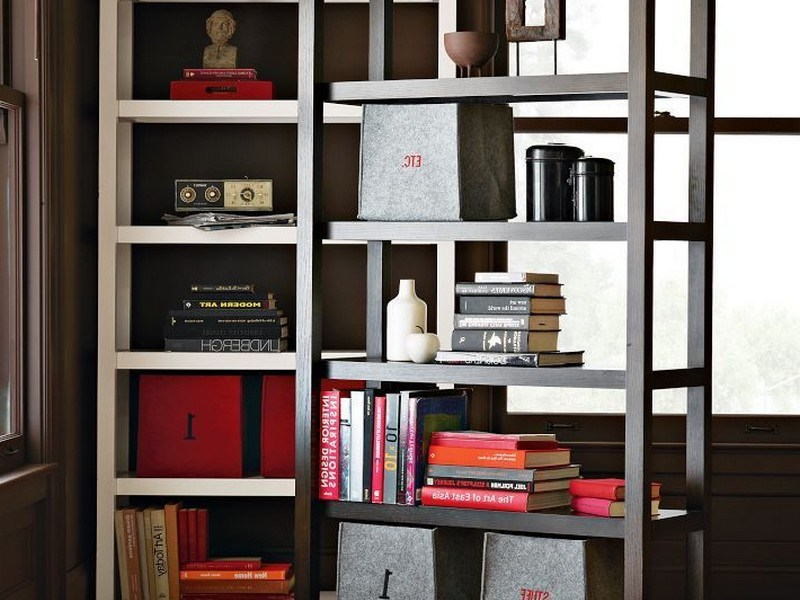 West Elm Room Divider Bookcase