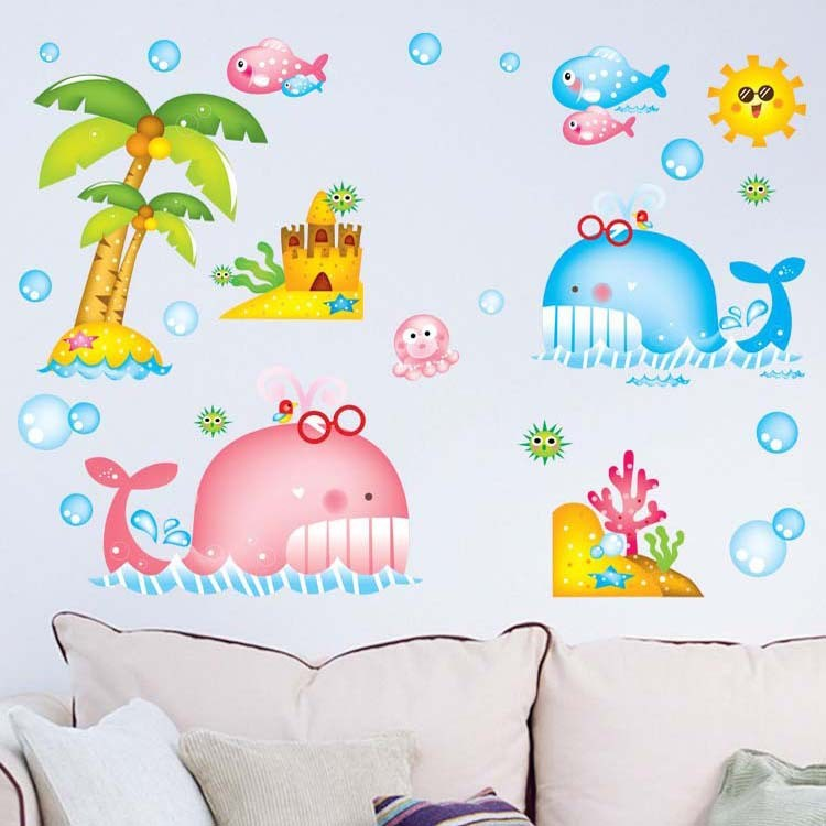 Whale Wall Decals For Nursery