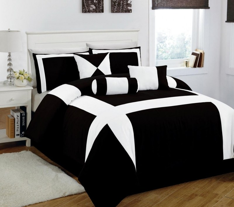 White And Black Comforter Sets King