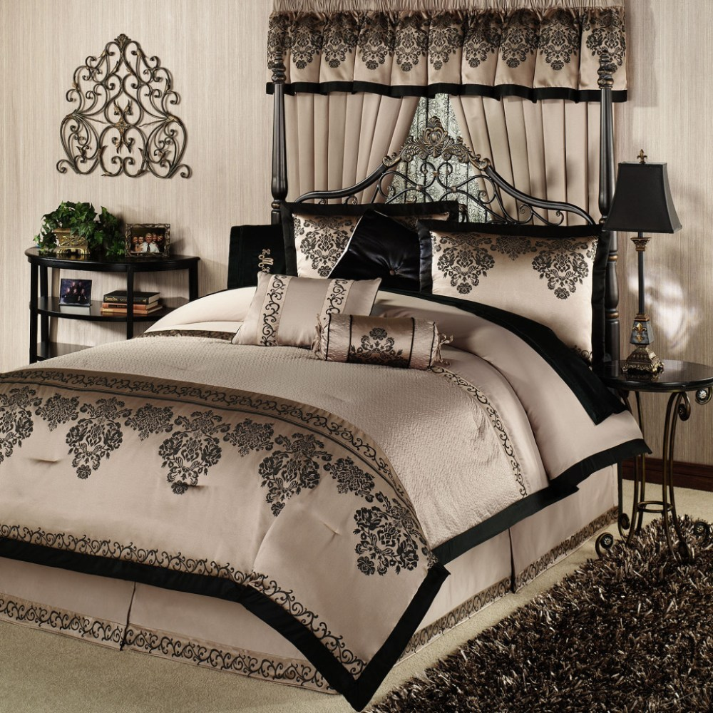White And Black Comforter Sets Queen