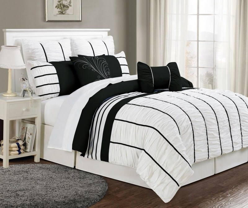 White And Black Comforter Sets