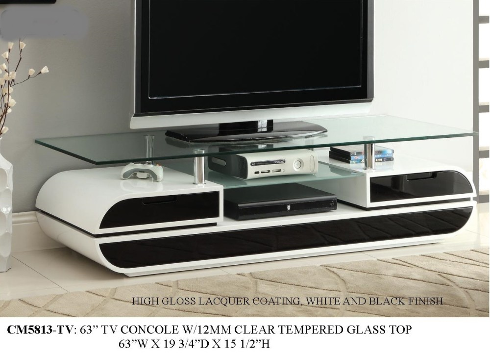 White And Black Tv Stand