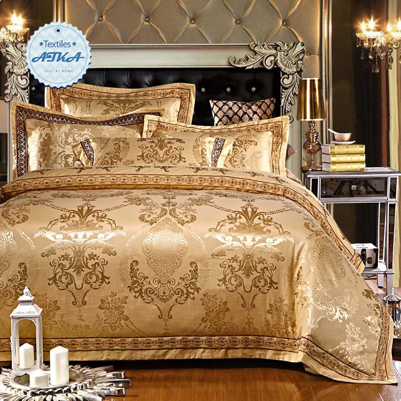 White And Gold Comforter Set